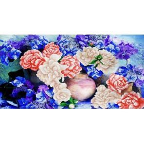 Цветочная фантазия Канва с рисунком для вышивки бисером Конек