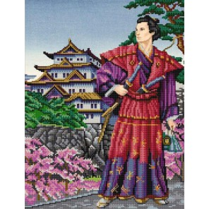 Самурай Канва с рисунком для вышивки бисером Конек