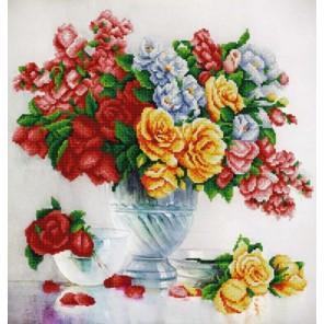 Розовый флер Канва с рисунком для вышивки бисером Конек