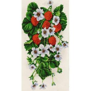 Клубника Канва с рисунком для вышивки бисером Конек