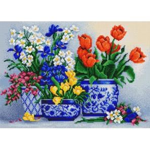 Цветочный бум Канва с рисунком для вышивки бисером Конек