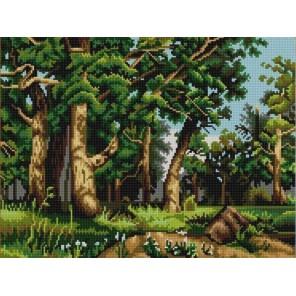 Дубовая роща (И.Шишкин) Канва с рисунком для вышивки бисером Конек
