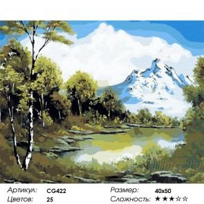 Предгорья Кавказа Раскраска по номерам на холсте Color Kit