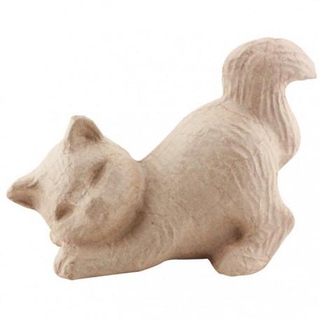Котенок 10,5х20х15 Фигурка из папье-маше объемная