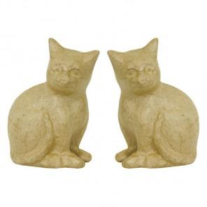 Кошки малые Фигурки из папье-маше объемные Decopatch