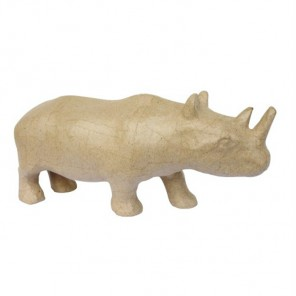Носорог малая Фигурка из папье-маше объемная Decopatch