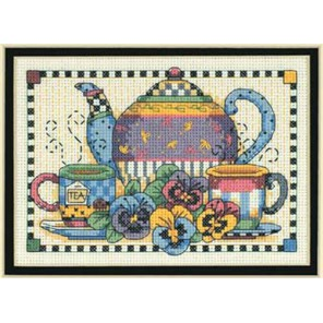 Анютины глазки и чайник 06877 Набор для вышивания Dimensions ( Дименшенс )