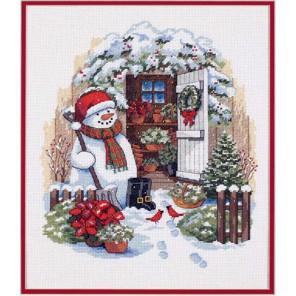 Снеговик во дворе 08817 Набор для вышивания Dimensions ( Дименшенс )