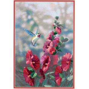 Мальвы в цвету 11127 Набор для вышивания Dimensions ( Дименшенс )