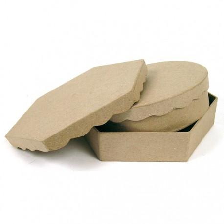 Коробки-крышка волна Фигурка из папье-маше
