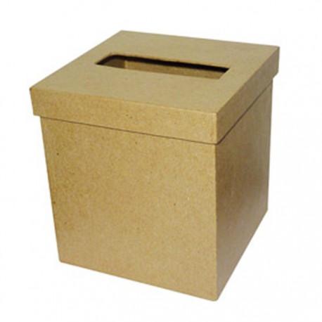 Коробка-салфетница квадрат Фигурка из папье-маше