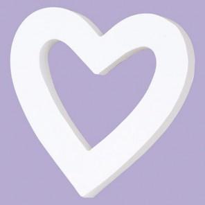 Сердечко-рамка Фигурка из картона белая