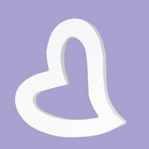 Сердечко-рамка кривое Фигурка из картона белая