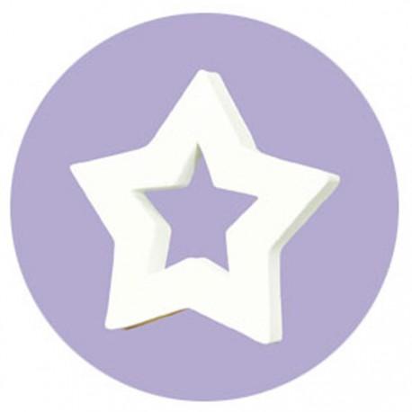 Звезда-рамка Фигурка из картона белая