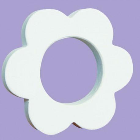 Цветок-рамка Фигурка из картона белая