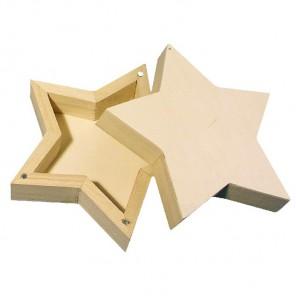 Звезда Коробка с магнитным замком Фигурка из дерева для декорирования Rayher
