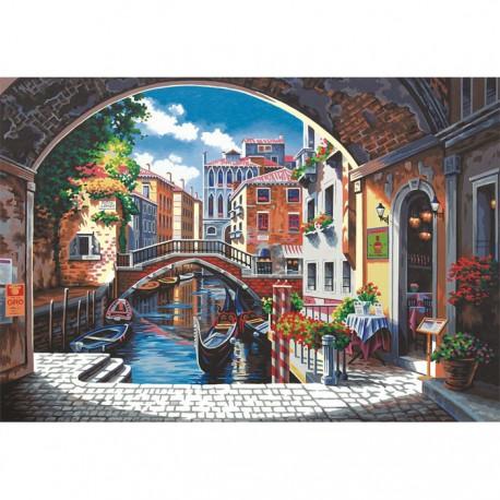 * Арка в Венецию 91430 Раскраска по номерам Dimensions