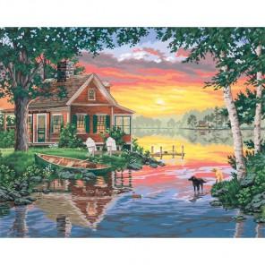 Хижина и закат 91315 Раскраска по номерам Dimensions