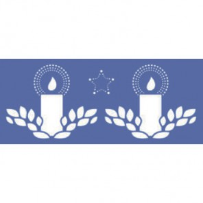 Свечи Трафарет 15х33см Marabu