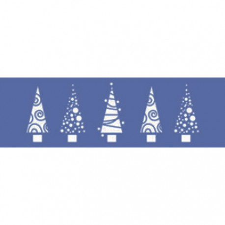 Рождественские деревья Трафарет 10х33см Marabu