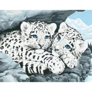 Детеныши снежного леопарда Раскраска (картина) по номерам Dimensions