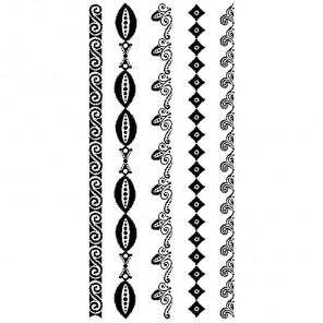 Бордюры батик Набор силиконовых штампов для скрапбукинга, кардмейкинга Inkadinkado