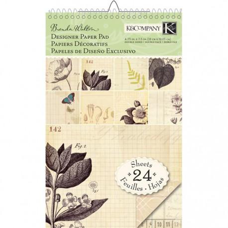 Флора и фауна Brenda Walton 12х19см Набор бумаги для скрапбукинга, кардмейкинга K&Company