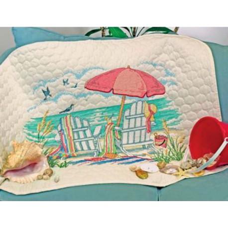 """Одеяло """"На пляже"""" 70-03242 Набор для вышивания Dimensions ( Дименшенс )"""