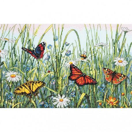 Поле бабочек 70-35271 Набор для вышивания Dimensions ( Дименшенс )