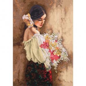 Женщина с букетом 70-35274  Набор для вышивания Dimensions ( Дименшенс )