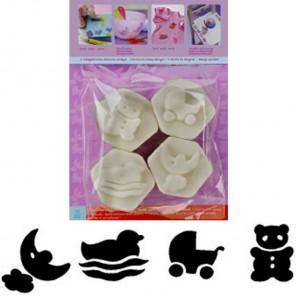 Детям Набор мини-штампов Marabu-Mini Stempel для скрапбукинга, кардмейкинга