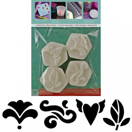 Орнаменты Набор мини-штампов Marabu-Mini Stempel для скрапбукинга, кардмейкинга