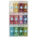 Серпантин блестящий: Радужный винтаж Набор 12 цветов Марта Стюарт Martha Stewart