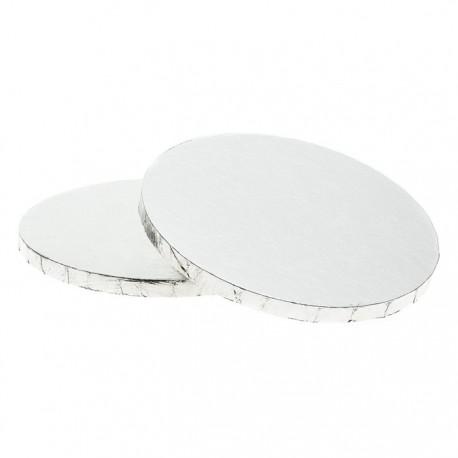 Серебристая круглая подставка для торта 35,6см Wilton ( Вилтон )