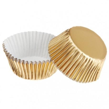 Золото Набор бумажных мини форм для кексов Wilton ( Вилтон )