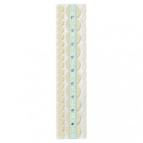 Кружевные ленты с жемчугом Набор бумажных лент для скрапбукинга, кардмейкинга  Martha Stewart Марта Стюарт