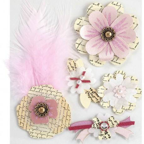 Цветы-коллаж Стикеры для скрапбукинга, кардмейкинга Марта Стюарт Martha Stewart