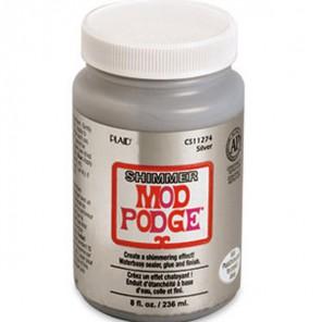 Серебряное мерцание Лак герметик клей для декупажа 11274 Mod Podge Plaid