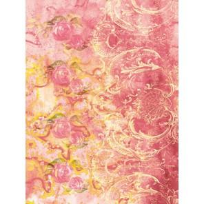 Розы и розовый фон DGR 25 Рисовая декупажная карта Calambour