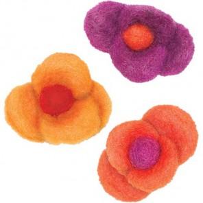 Цветки с 4 лепестками Декоративное украшение из войлока Dimensions