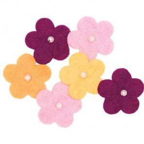 Цветки с бусинками  Декоративное украшение из войлока Dimensions