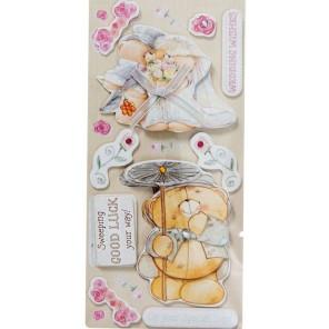 С днем свадьбы! Стикеры объёмные для скрапбукинга, кардмейкинга Docrafts