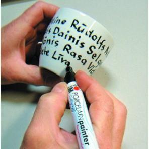 Фломастер по керамике ( каллиграфия) Porcelain Painter Caligraphy Marabu ( Марабу)