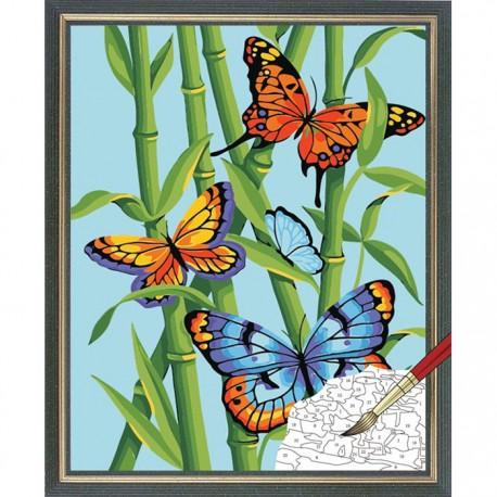 * Бабочки и бамбук 91258 Раскраска по номерам Dimensions