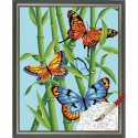 Бабочки и бамбук 91258 Раскраска по номерам Dimensions