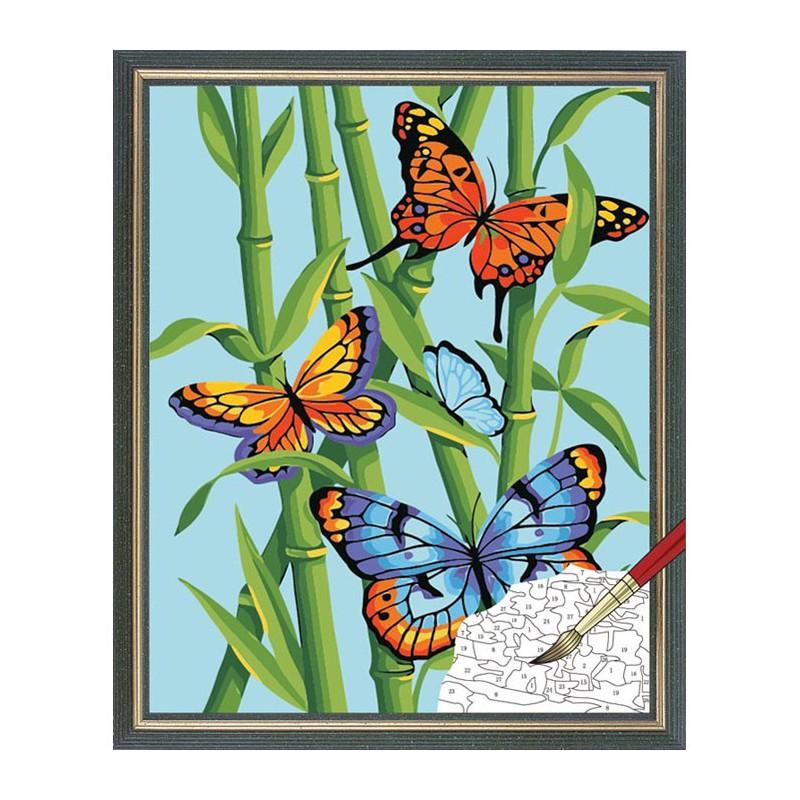 Нарисованные картины с бабочками