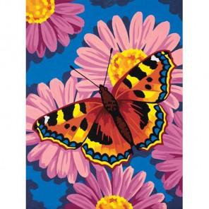 Бабочка и цветы Раскраска по номерам Dimensions