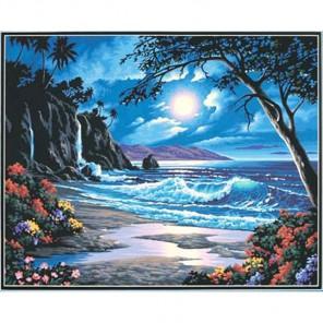 Рай в лунном свете 91185 Раскраска по номерам акриловыми красками Dimensions