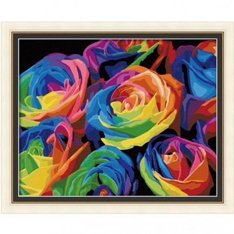 Розы Раскраска по номерам акриловыми красками на холсте Menglei