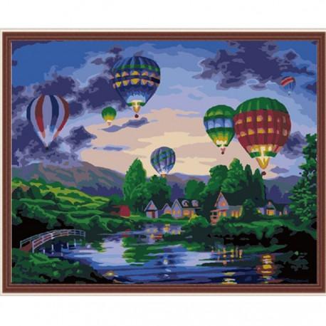 Полет мечты Раскраска по номерам акриловыми красками на холсте Menglei